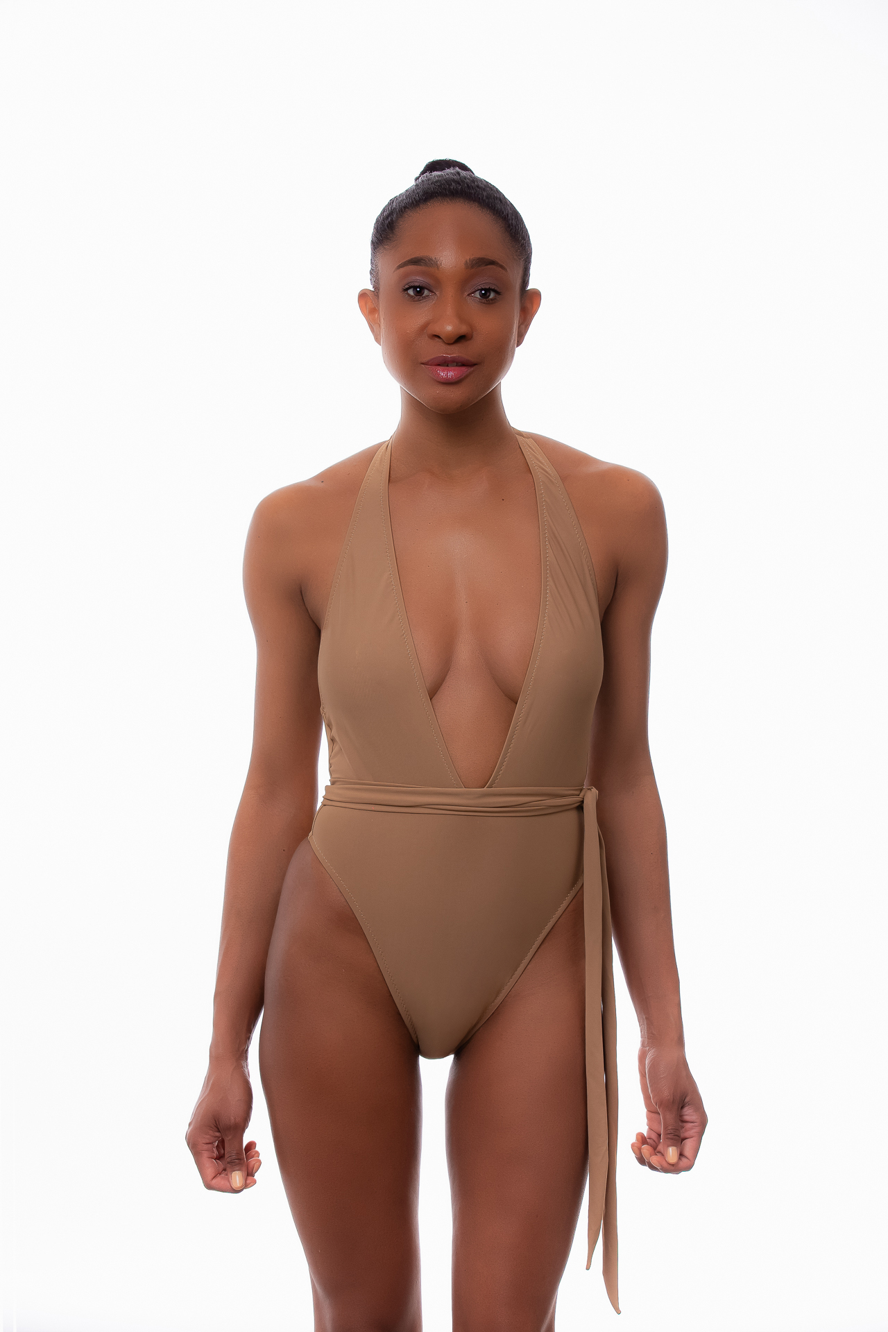 Lola One Piece Swimsuit In Nude